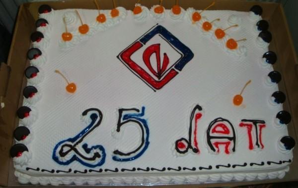 tort na 25 lecie firmy